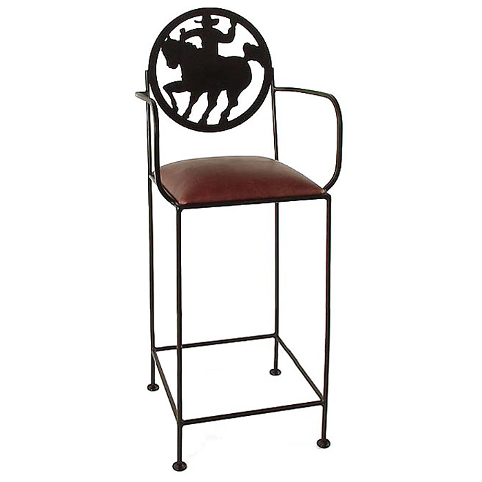 "Frontier 24"" Wrought Iron Counter Stool - Armrests - GMC-SML-24ARM-FRONTIER"