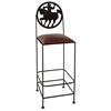 "Frontier 30"" Wrought Iron Bar Stool - GMC-SML-30-FRONTIER"
