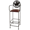 "Frontier 30"" Wrought Iron Bar Stool - Armrests - GMC-SML-30ARM-FRONTIER"