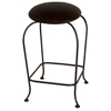 "Round 24"" Backless Counter Stool - Swivel, Bowed Legs - GMC-SW124"