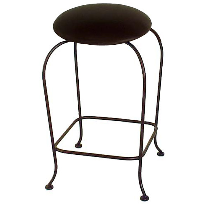 Round 24 Quot Backless Counter Stool Swivel Bowed Legs