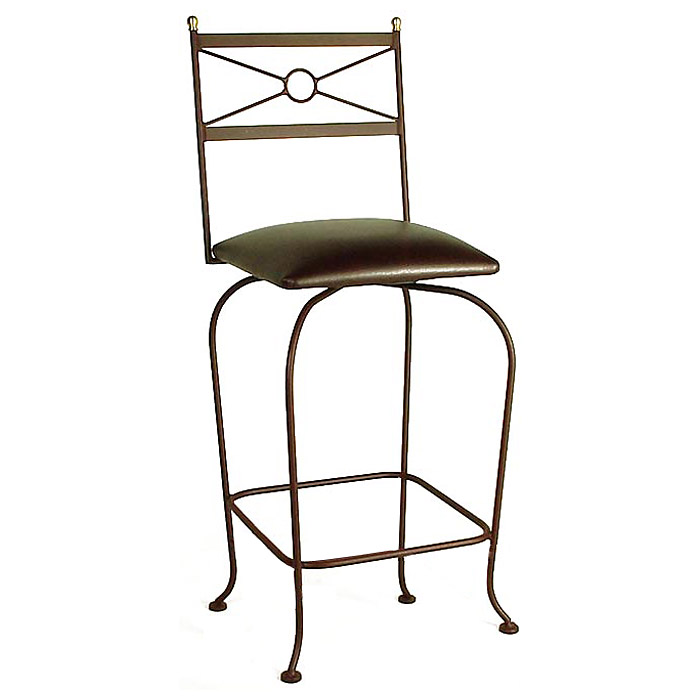 "Classico 24"" Wrought Iron Counter Stool - Memory Return Swivel - GMC-SW124-CL"