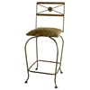"Neoclassic 24"" Wrought Iron Counter Stool - Memory Return Swivel - GMC-SW124-N"