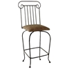 "Roman Column 24"" Wrought Iron Counter Stool - Swivel - GMC-SW124-RC"