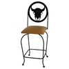 "Frontier 24"" Wrought Iron Counter Stool - Swivel - GMC-SW124-SML-FRONTIER"