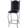 "Upholstered 24"" Iron Counter Stool - Memory Return Swivel - GMC-SW124-UPH"