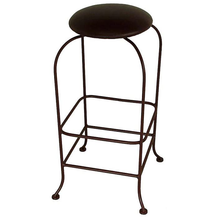 Round 30 Quot Backless Bar Stool Swivel Bowed Legs Dcg Stores
