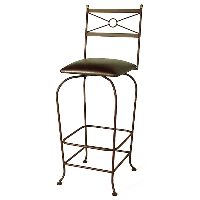 "Classico 30"" Wrought Iron Bar Stool - Memory Return Swivel - GMC-SW130-CL"