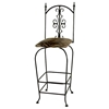 "Gothic Gate 30"" Wrought Iron Bar Stool - Memory Return Swivel - GMC-SW130-G"