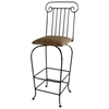 "Roman Column 30"" Wrought Iron Bar Stool - Swivel - GMC-SW130-RC"