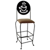 "Coffee Cup 30"" Wrought Iron Bar Stool - Memory Return Swivel - GMC-SW130-SML-COFFEE"