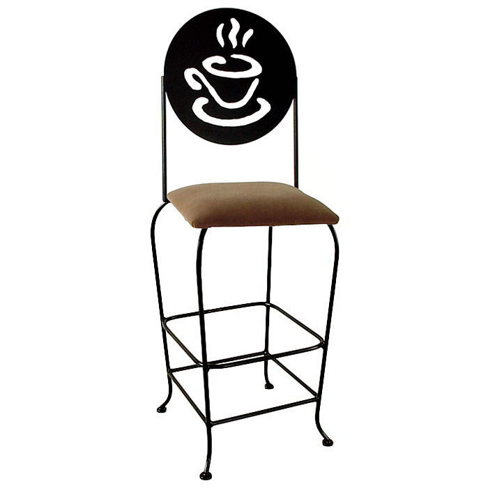 Coffee Cup 30 Quot Wrought Iron Bar Stool Memory Return