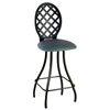 "Lattice Back 24"" Counter Stool - Memory Return Swivel - GMC-SW224-LATTICE"