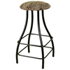 "Round 30"" Backless Bar Stool - Swivel, Contemporary Base - GMC-SW230"