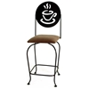 "Coffee Cup 24"" Wrought Iron Counter Stool - Memory Return Swivel - GMC-SW124-SML-COFFEE"