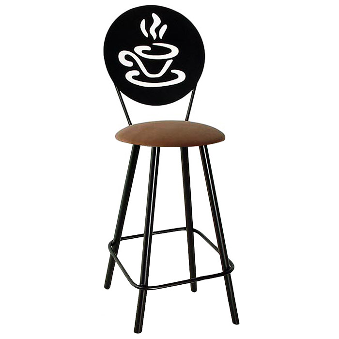 "Coffee Cup 24"" Counter Stool - Swivel, Straight Legs - GMC-SW324-SML-COFFEE"
