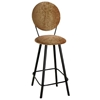"Round Back 24"" Upholstered Counter Stool - Swivel, Straight Legs - GMC-SW324-UCIR"