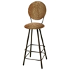 "Round Back 30"" Upholstered Bar Stool - Swivel, Straight Legs - GMC-SW330-UCIR"