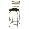 "Carolina 30"" Wrought Iron Bar Stool - Swivel, 3 Slats - GMC-SWB30-C"