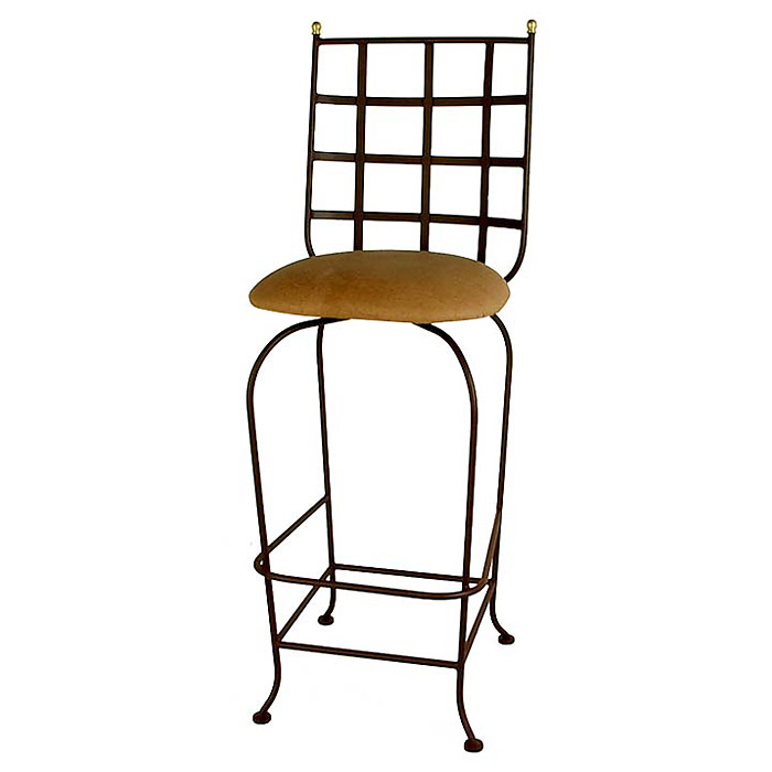 Westminster 30 Quot Wrought Iron Bar Stool Swivel Cross