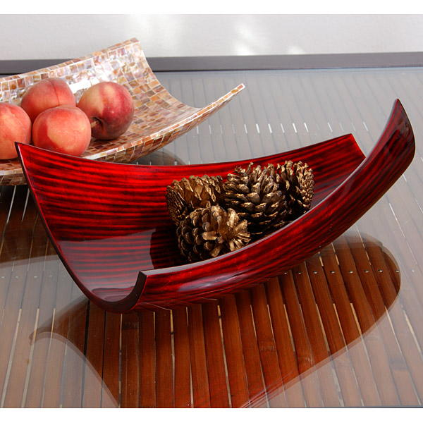Paper Red Black Modern Bowl