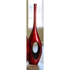 29 Inch Tall Red Black Hole Vase