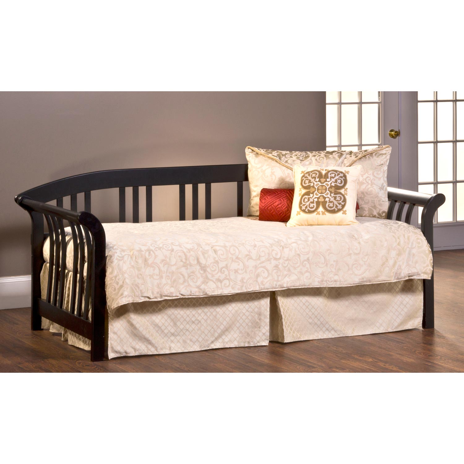Dorchester Mission Style Daybed - Black - HILL-1046DBLH