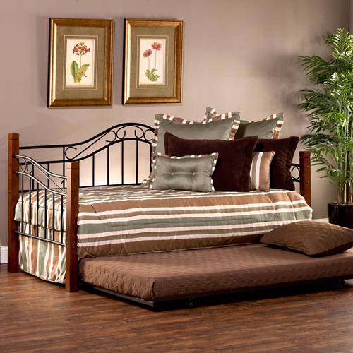 Matson Daybed Amp Trundle Cherry Posts Black Grills Dcg
