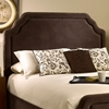 Carlyle Fabric Bed - Scalloped Edges, Nail Heads, Chocolate - HILL-1554BXRC