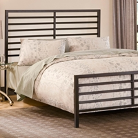 Latimore Metal Bed - Horizontal Slats, Charcoal Black