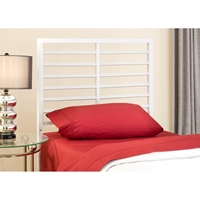 Latimore Twin Metal Bed - Horizontal Slats, White