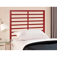 Latimore Twin Metal Bed - Horizontal Slats, Red