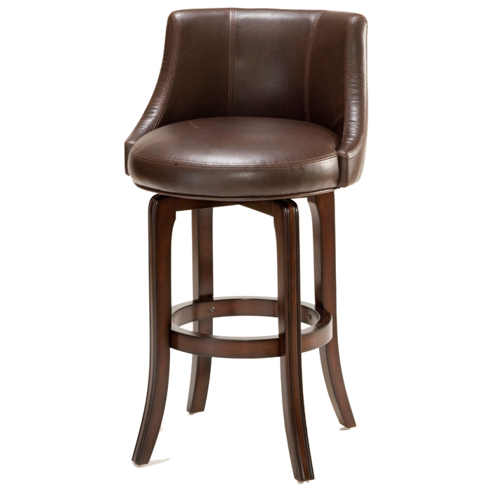 Napa Valley 25 Quot Swivel Counter Stool Cherry Brown
