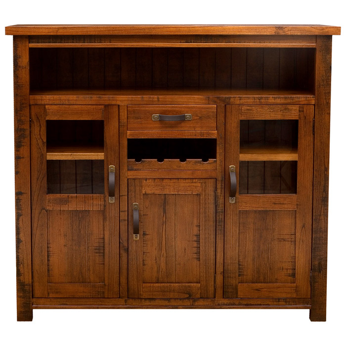 Outback 3 Door Wine Cabinet In Distressed Chestnut