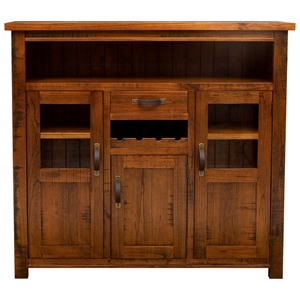 Outback 3-Door Wine Cabinet in Distressed Chestnut