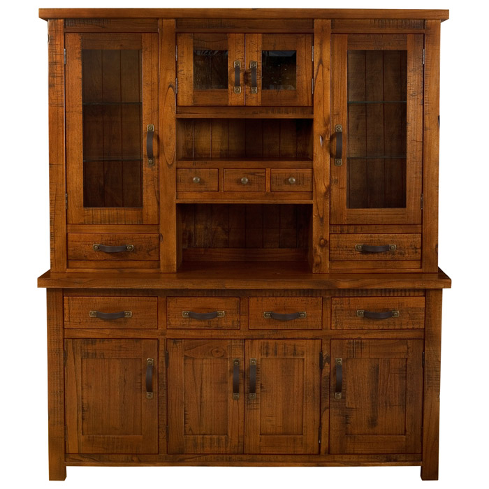 Outback Buffet And Hutch In Distressed Chestnut Dcg Stores