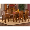 Outback 7 Piece Extension Dining Set - Distressed Chestnut - HILL-4321DTBEC7