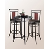 Midtown Swivel Bar Stool - Black Finish, Black Seat, Wood Accent - HILL-4324-8XX