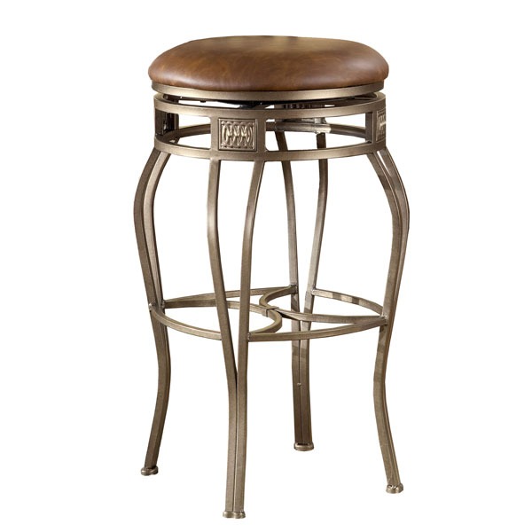 Montello Backless Swivel Bar Stool Old Steel Faux
