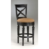 Northern Heights Swivel Bar Stool - Black, Honey Accents - HILL-4439-8XX