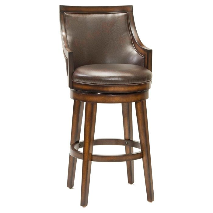 Lyman Swivel Bar Stool - Rustic Oak, Brown
