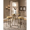 Marin Swivel Bar Stool - Flecked Brown, Beige Seat - HILL-4815-84X