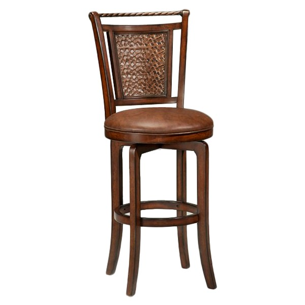 Norwood 30 5 Quot Swivel Bar Stool Brown Cherry Hammered