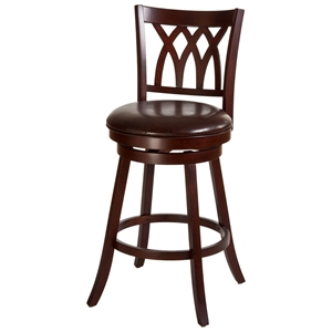 "Tateswood 31"" Bar Stool - Brown Seat, Cherry Frame"
