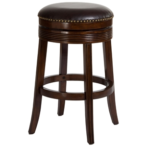 "Tillman 26"" Backless Counter Stool - Fluting, Nail Heads, Espresso"