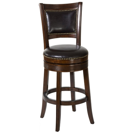 Lockefield 26 Wooden Counter Stool Nail Heads Espresso Frame Dcg Stores