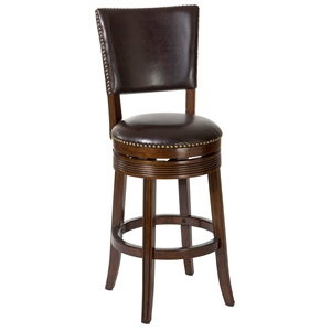 "Sonesta 26"" Wooden Counter Stool - Nail Heads, Espresso"