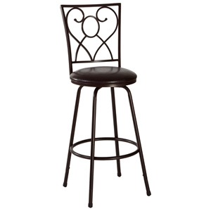 Bellesol Metal Swivel Bar Stool - Nested Legs, Dark Brown