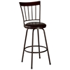 Fantastic Cantwell Spindle Back Bar Stool Nested Legs Dark Brown Evergreenethics Interior Chair Design Evergreenethicsorg
