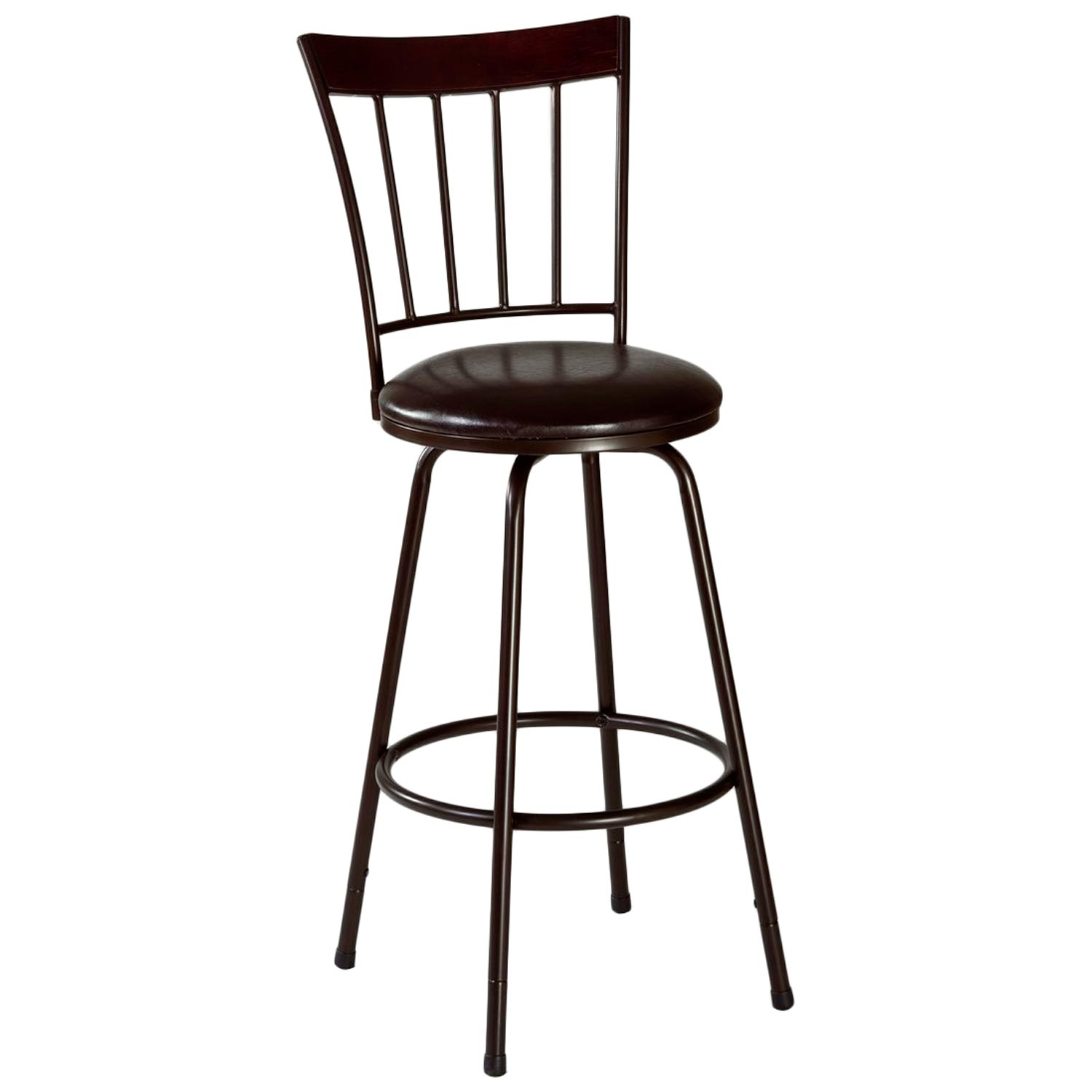 Cantwell Spindle Back Bar Stool - Nested Legs, Dark Brown - HILL-5258-830